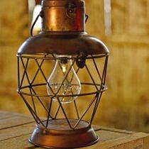 Solar lantern, LED hanging lamp industrial look Ø16cm H32cm