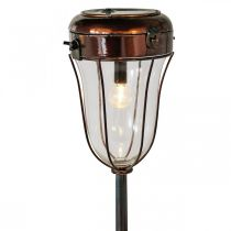 Solar lantern to plug in, LED tube light Ø13.5cm L58cm H21cm