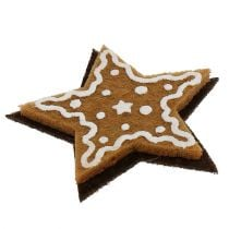 Gingerbread stars 4,5cm for gluing 12pcs