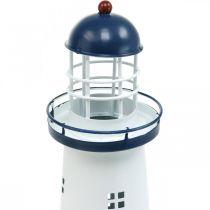 Lighthouse dark blue maritime decoration metal summer decoration