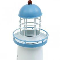 Lighthouse light blue metal decoration Maritime decoration