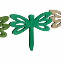 Dragonflies to scatter, summer decoration made of wood, table decoration green 48pcs