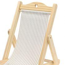 Deco deck chair gray-white H24cm