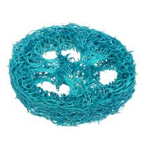 Loofah slices turquoise 25pcs