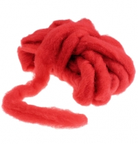 Wool sliver 10m red