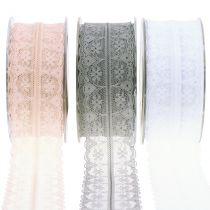 Lace ribbon vintage 40mm 20m