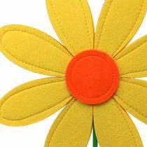 Felt flower yellow, orange, green Ø25.5cm x H68cm window dressing