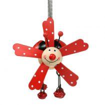 Wind chimes ladybug wood red 12cm