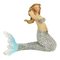 Decoration figure Mermaid Blue 6cm - 9,5cm 3pcs