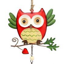 Metal owl for hanging 12cm 2pcs