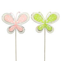 Metal plug butterfly green, pink 52cm 2pcs