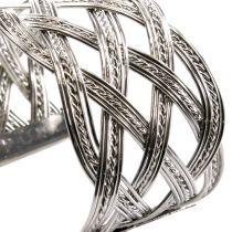 Metal bracelet silver 6pcs