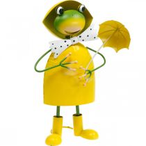 Frog decoration figure garden decoration rain frog metal H35cm