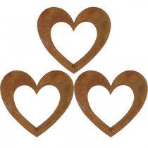 Heart rust garden decoration metal heart 10cm 12pcs