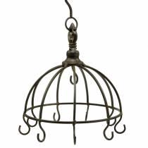 Kitchen hanger metal crown antique Ø22cm H28cm