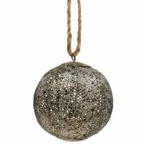 Metal ball antique for hanging Ø10,5cm