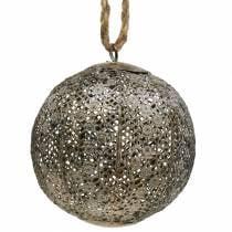 Metal ball antique for hanging Ø13,5cm
