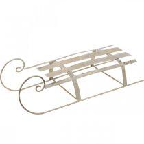 Sled for Christmas, winter decoration, decorative sledge golden, antique look L41cm H11cm