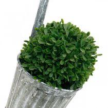Decorative pot to hang, metal vessel, balcony decoration, antique-look plant pot Ø13cm