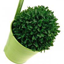 Plant pot to hang, balcony decoration, flower pot green Ø13.5cm