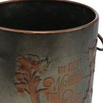 Metal pot with lid Ø17.5cm H20.5cm
