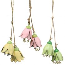Decoration to hang Metallblüten Tulip 6cm 3pcs