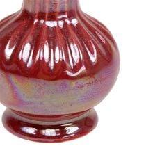 Mini Vase Ø5cm H10cm Mother of Pearl Red 6pcs