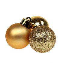Mini Christmas ball gold Ø3cm 14pcs