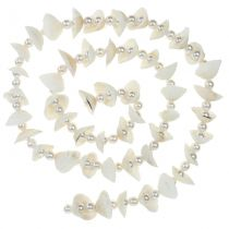 Shell garland with pearls white 100cm