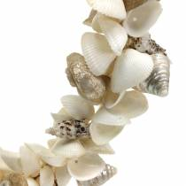 Shell wreath natural white Ø40cm