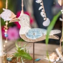 Seagull wood blue white 20cm × 5cm H25cm