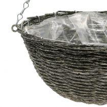 Basket Lamp Gray Ø30,5cm H15cm