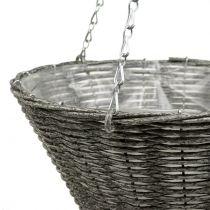 Basket lamp cone cone gray Ø35cm H37cm