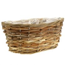 Basket bowl oval light brown L27cm