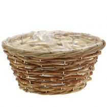 Basket bowl for planting light brown Ø24cm
