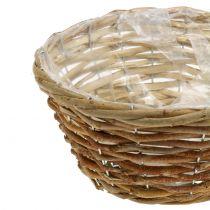 Basket bowl for planting light brown Ø24cm