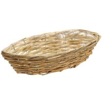 Basket ship for planting light brown L33cm