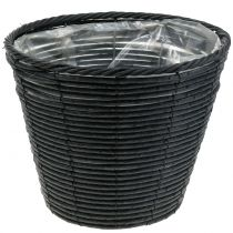 Plant pot rattan-look anthracite Ø30cm H24cm