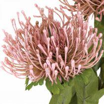 Autumn flower pincushion artificial pink Leucospermum 73cm 3pcs