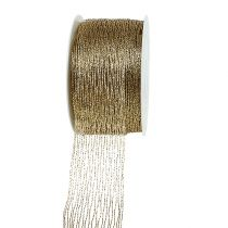 Mesh ribbon gold wire-reinforced 40mm 15m