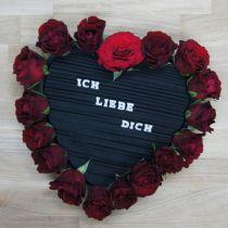 Heart plug-in foam black 33cm 2pcs wedding decoration