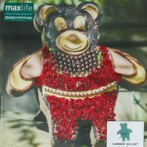 Floral foam figure Teddy with stand 48.5cm x 42cm H5cm 1pc