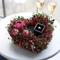Floral foam heart black 25,5cm 2pcs