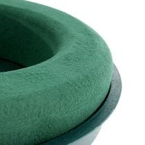 Plug-in compound ring plug-in foam with shell green Ø30cm H4.5cm 2pcs