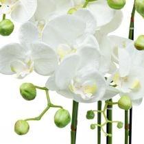 Artificial orchids in a pot white artificial plant 63cm