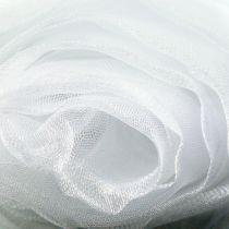 Decorative fabric organza white 150cm x 300cm