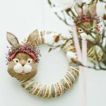 Easter Decoration Bunny Head for Hanging Straw H32cm