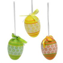 Easter eggs for hanging Mix assorted 6cm 18pcs