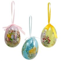 Easter eggs for hanging assorted colors 7cm 6pcs