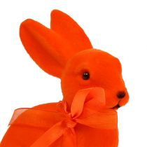 Easter bunny assorted 15cm flocked 4pc